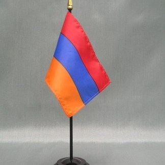 "Armenia Flag-4"" x 6"" Desk Flag-0"
