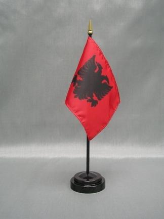 "Albania-4"" x 6"" Desk Flag-0"