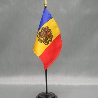 "Andorra -4"" x 6"" Desk Flag-0"
