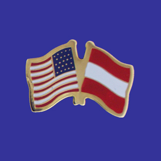 USA+Austria Friendship Pin-0