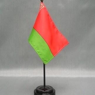 """Belarus -4"""" x 6"""" Desk Flag-0"""