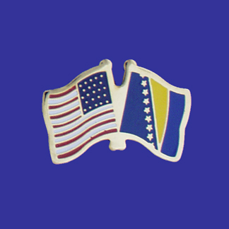 USA+Bosnia Friendship Pin-0