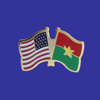 USA+Burkina Faso Friendship Pin-0