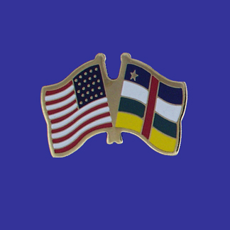 USA+Central Africa Republic Friendship Pin-0