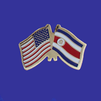USA+Costa Rica Friendship Pin-0