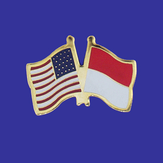 USA+Indonesia Friendship Pin-0