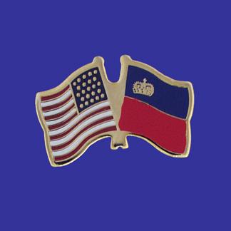 USA+Liechtenstein Friendship Pin-0