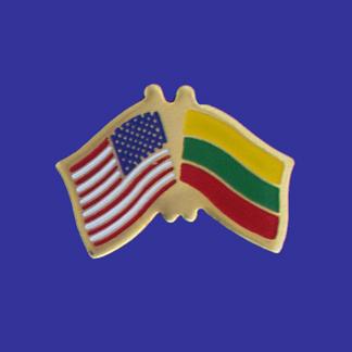 USA+Lithuania Friendship Pin-0