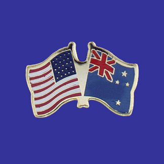 USA+New Zealand Friendship Pin-0