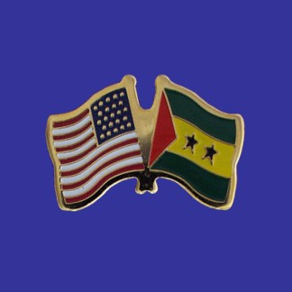 USA+Sao Tome & Principe Friendship Pin-0