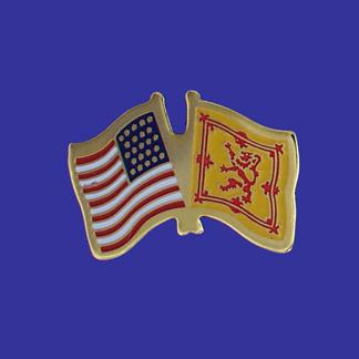 USA+Scotland (lion) Friendship Pin-0