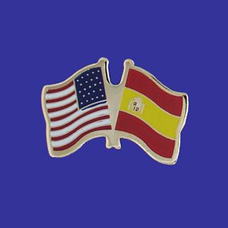 USA+Spain Friendship Pin-0