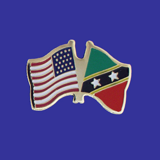 USA+St. Christopher-Nevis Friendship Pin-0