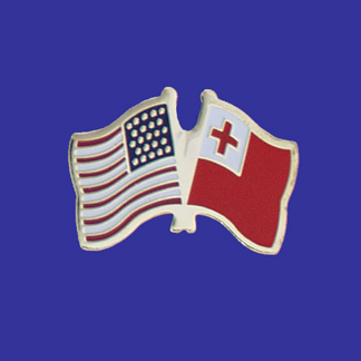 USA+Tonga Friendship Pin-0
