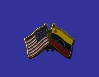 USA+Venezuela Friendship Pin-0