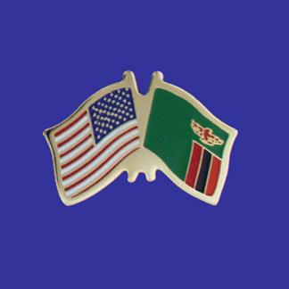 USA+Zambia Friendship Pin-0