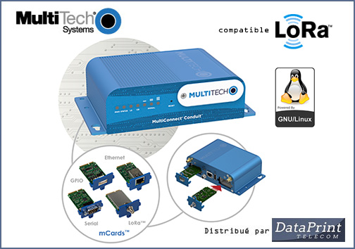 Passerelle IoT LoRa MultiTech MultiConnect Conduit
