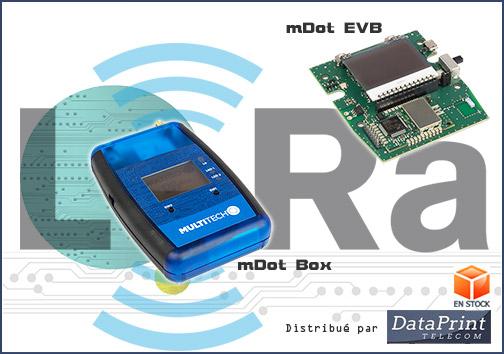 Box mDot et Evaluation Board LoRa de MultiTech