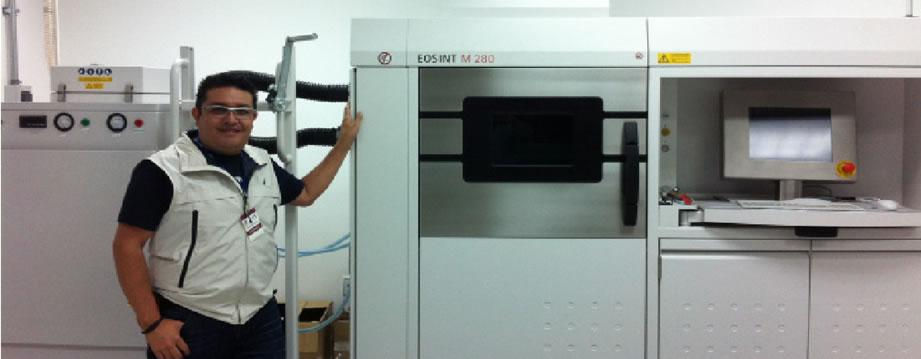 Equipo de impresión para titanio, el costo aproximado 1.5 millones de USD.