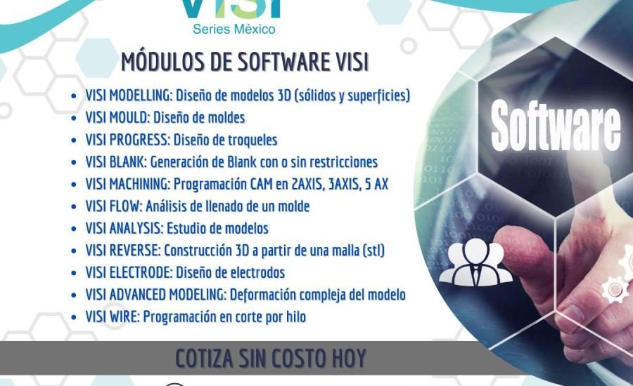 Módulos de Visi Software cad-cam