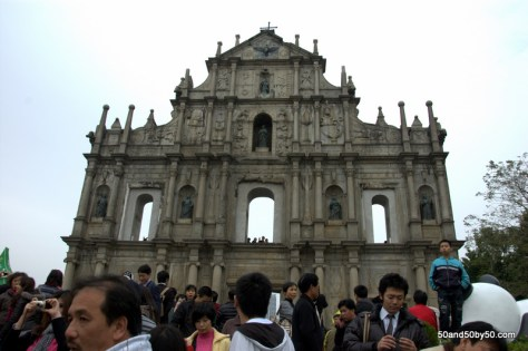 Macau day trips start with the Ruins of the Church of St Paul in Macau