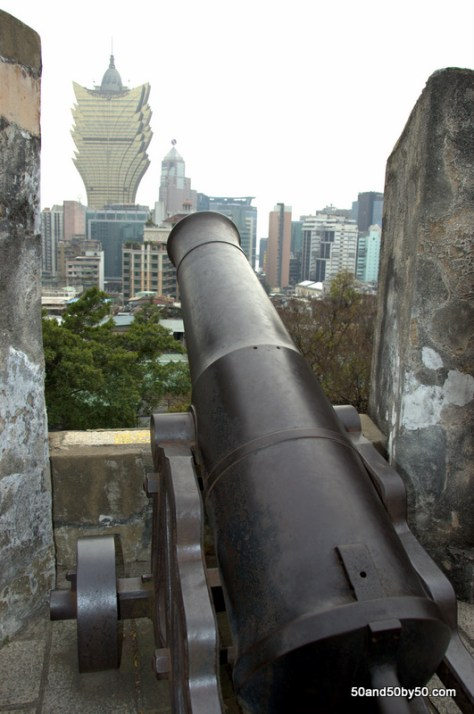 Cannon at Monte Fort from my Macau day trip