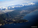 Flight over Vancouver, enroute to Hong Kong