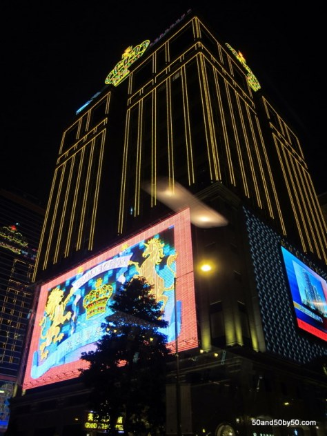 you can't miss the casino lights on your Macau day trip