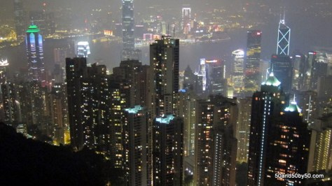 View from Victoria Peak, of the Hong Kong skyline