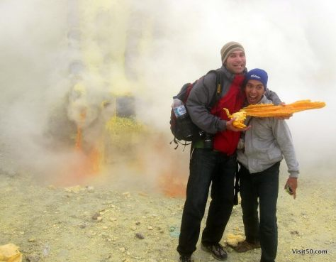 new friends from the Kawah Ijen volcano hike | Java, Indonesia
