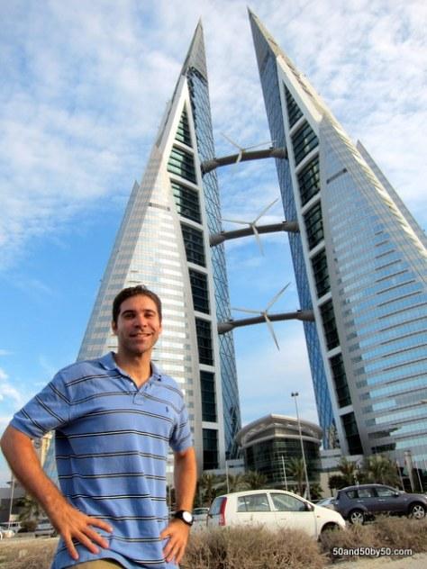 Impressive architecture! Bahrain World Trade Center - Twin skyscrapers
