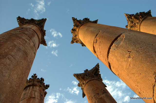 The Temple of Artemis, one of the largest and most important building in the city of Jerash