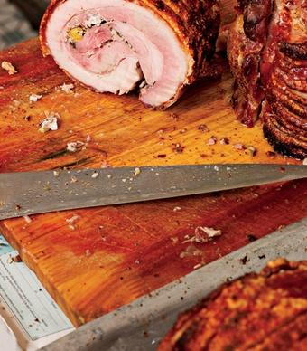 Malaysia Roast Pork at Yut Kee, a traditional coffeehouse (or kopitiam) in Kuala Lumpur