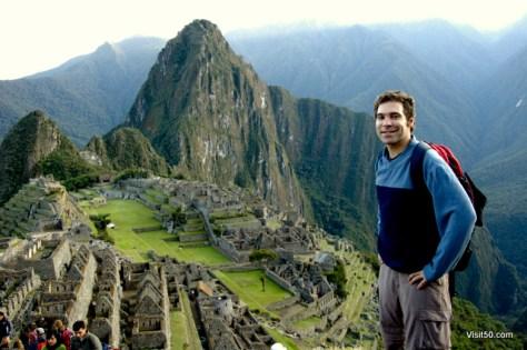 Machu Picchu, Peru, in South America after 5 days of hiking and camping