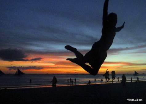 Flying in Boracay! Every sunset was this beautiful!