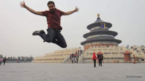 Jumping in Beijing China