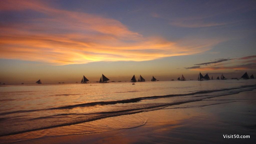 Boracay Sunset Silhouettes - Beach Paradise!