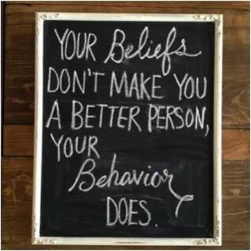 cartoon - your beliefs dont make you a better person