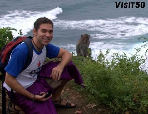 met with monkeys in Asia