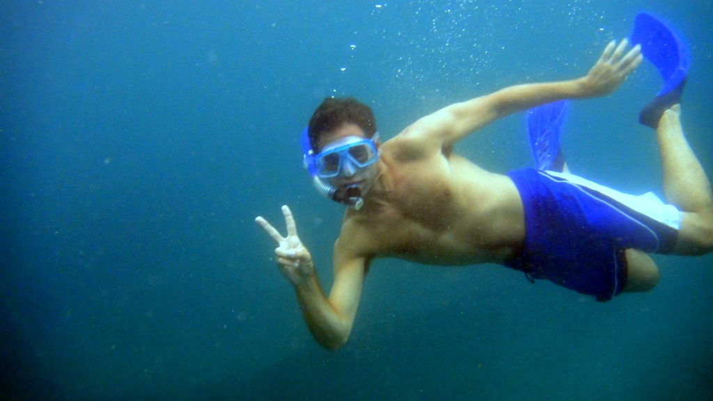 me while snorkeling in Malapascua Philippines