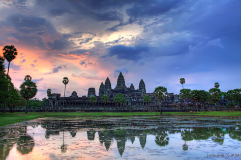 Angkor Wat sunrise in Cambodia