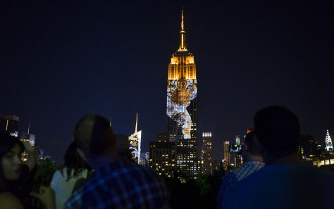 Tiger projected on the Empire State Building