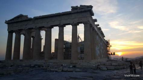 Historic Athens sunset