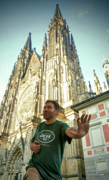 Jets opening day (American football) - I searched the entire city for a bar that might have the game on. Finding American football on a backpacking Europe itinerary is challenging! Success!