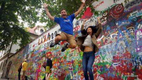 Everybody's Jumping for Peace in Prague