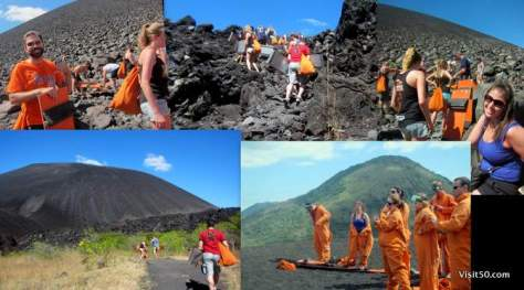 Volcano boarding in Leon with Bigfoot
