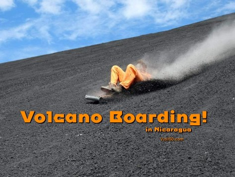 Volcano Boarding Nicaragua. going so fast down the volcano