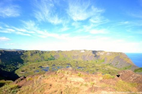 Top of Volcano in Easter Island