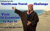 Visit50 travel challenge - Visit 50 countries and all 50 states by age 50.