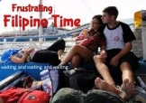 Filipino-Time waiting on a boat Philippines